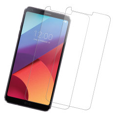 Olixar LG G6 Tempered Glass Screen Protector Twin Pack