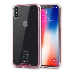 Olixar ExoShield Tough Snap-on iPhone X Case  - Rose Gold / Clear