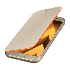 Official Samsung Galaxy A7 2017 Neon Flip Cover - Gold