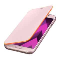 Official Samsung Galaxy A7 2017 Neon Flip Cover - Pink