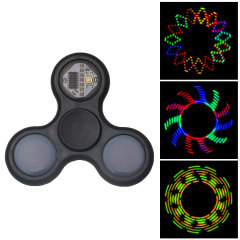 LED Pattern Tri Spinner Fidget Spinner - Black