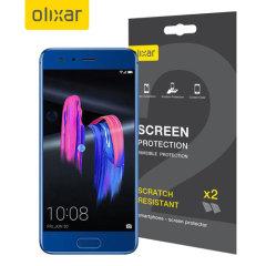 Olixar Huawei Honor 9 Displayschutz 2-in-1 Pack