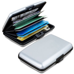 Acardion Aluminium RFID Blocking Armoured Wallet Case - Silver