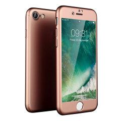 Olixar X-Trio Full Cover iPhone 8 Case - Rose Gold