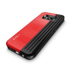 Zizo Retro Samsung Galaxy S8 Wallet Stand Case - Red / Black