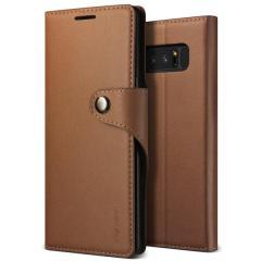 VRS Design Echte Leder Tagebuch Galaxy Note 8 Hülle - Braun