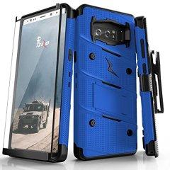 Zizo Bolt Series Samsung Galaxy Note 8 Tough Case Hülle & Gürtelclip -  Blau