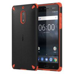 Official CC-501 Rugged Impact Nokia 6 Tough Case - Black / Orange