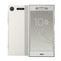 Original Sony Xperia XZ1 Style Tasche Touch Case in Silber