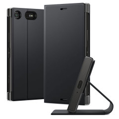 Original Sony Xperia XZ1 Compact Style Tasche Touch Case in Schwarz