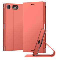 Original Sony Xperia XZ1 Compact Style Tasche Touch Case in Rosa