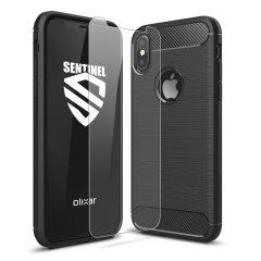 Olixar Sentinel iPhone X Case and Glass Screen Protector