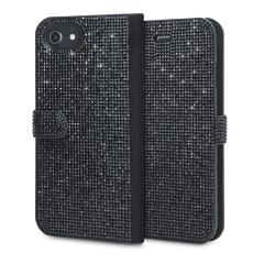 LoveCases Luxury Diamond iPhone 8 / 7 / 6S / 6 Wallet Case - Black