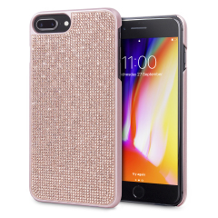 LoveCases Luxury Crystal iPhone 8 Plus / 7 Plus Case - Rose Gold