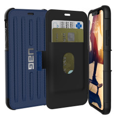 UAG Metropolis Rugged iPhone X Wallet case Tasche in Kobalt
