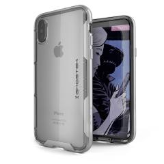 Ghostek Cloak 3 iPhone X starke Hülle - Klar / Silber