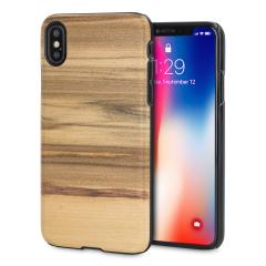 Man&Wood iPhone X Hölzerne Hülle - Cappuccino