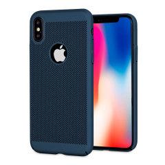 Olixar MeshTex iPhone X Hülle - Deep Ocean Blau