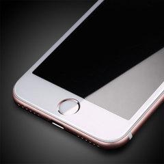 Olixar iPhone 8 Edge to Edge Tempered Glass Screen Protector - White