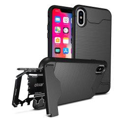 Olixar X-Ranger iPhone X Survival Case - Taktisches Schwarz