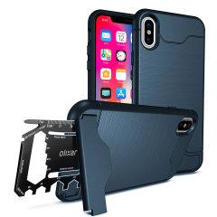 Olixar X-Ranger iPhone X Survival Case -  Marine Blau