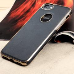Olixar Makamae Leder-Style iPhone 8 Hülle - Schwarz