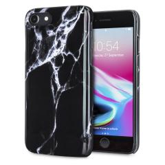 LoveCases Marmor iPhone 8 / 7 Hülle - Schwarz