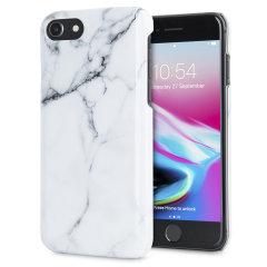 LoveCases Marmor iPhone 8 / 7 Hülle - Klassisches Weiß