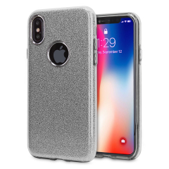 LoveCases Glitter iPhone X Case - Silver