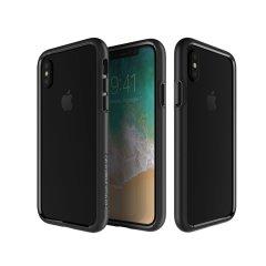 Patchworks Level Silhouette iPhone X Stoßdämpfer-Hülle - Schwarz