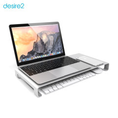 Desire2 View My Screen Premium Monitor / Laptop Riser Stand - Silver