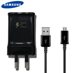 Official Samsung Adaptive Fast Micro USB AUS Mains Charger - Black