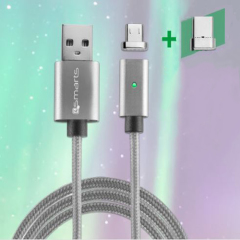 4smarts GRAVITYCord Magnetic microUSB + USB-C Sync & Charge Cable