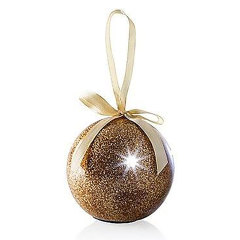 Recordable Message Christmas LED Glitter Bauble - Gold