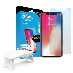 Whitestone Dome Glas iPhone X Vollabdeckender DisplaySchutz