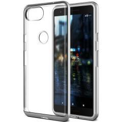 VRS Design Crystal Bumper Google Pixel 2 Case - Satin Silver