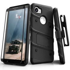 Zizo Bolt Series Google Pixel 2 XL Tough Case & Belt Clip - Black
