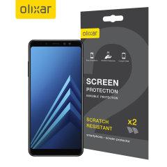 Olixar Samsung Galaxy A8 2018 Displayschutz 2-in-1 Pack