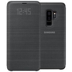 Official Samsung Galaxy S9 Plus LED Flip Wallet Cover - Black