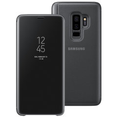 Official Galaxy S9 Plus Clear View Standing Cover Case - Schwarz