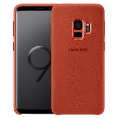 Official Samsung Galaxy S9 Alcantara Cover Case - Rot