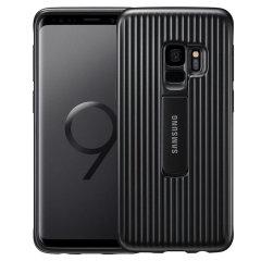 Offizielle Samsung Galaxy S9 schützende stehende Cover Hülle - Schwarz