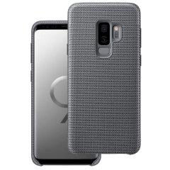 Offizielle Samsung Galaxy S9 Plus Hyperknit Cover Hülle - Grau