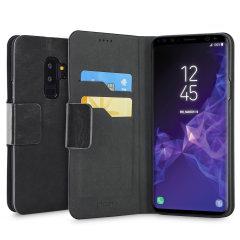 Olixar Samsung Galaxy S9 Plus Tasche Wallet Stand Case in Schwarz