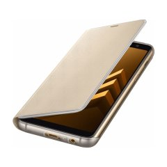 Offizielle Galaxy A8 2018 Neon Flip-Cover Wallet - Gold