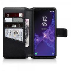Olixar Samsung Galaxy S9 Ledertasche WalletCase in Schwarz