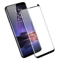 Olixar Galaxy S9 Plus Case Compatible Glass Screen Protector - Black