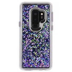 Case-Mate Galaxy S9 Plus Sternen Wasserfall Schein Hülle - Lila