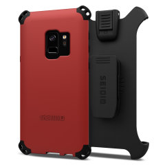 Seidio Dilex Combo Galaxy S9 Halfter Hülle - Dunkelrot