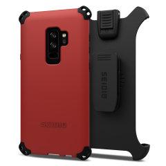 Seidio Dilex Combo Galaxy S9 Plus Halfter Hülle - Dunkelrot